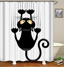 ANDMAEVA Funny Shower Curtains Bathroom Curtain