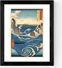 Ando Hiroshige - 'Stormy Sea' Framed