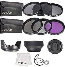 Andoer 49mm Lens Filter Kit UV, CPL, FLD, ND (ND2