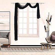 Andouy 1Pcs Voile Curtain Swags Pelmet Valance Net