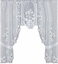 Andouy Vintage Style Lace Coffee Curtain Kitchen