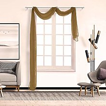 Andouy Voile Curtain Swags Pelmet Valance Net
