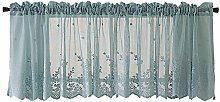 Andouy Waffle Woven Textured Valance for Bathroom