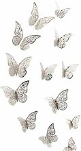 Andouy Wall Stickers 3D Butterfly Fridge for Home
