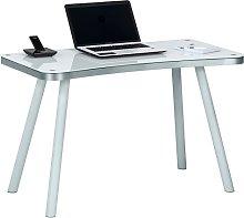 Andrea Computer Desk Rectangular In White Glass