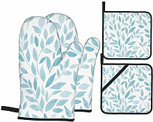 AndrewTop Oven Mitts and Potholders 4pcs Sets,Bush