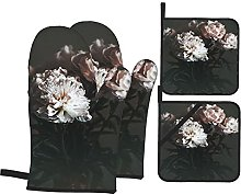 AndrewTop Oven Mitts and Potholders 4pcs Sets,Fine
