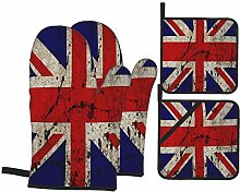 AndrewTop Oven Mitts and Potholders 4pcs Sets,Uk