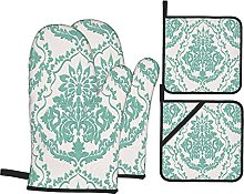 AndrewTop Oven Mitts and Potholders 4pcs