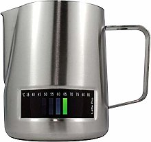 ANDRONICAS Latte Pro Milk Jug Thermometer (Silver,