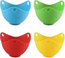 Andux Egg Poacher Set of 4 Cooking Perfect Poached