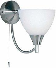Andy Decorative Satin Chrome Single E14 LED
