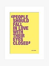 Andy Warhol - People Should Fall In Love Unframed
