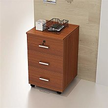 AndyJerzy Mobile File Cabinet Wooden 3 Drawer