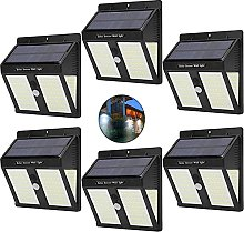 Aneagle 6Pack Solar Lights Outdoor, Wireless Solar