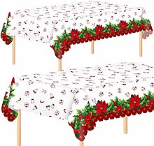 Aneco 2 Pack Christmas Party Tablecloth Table