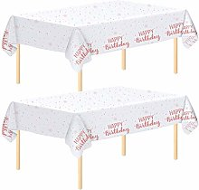 Aneco 2 Pack Rose Gold Tablecloth Table Cloth