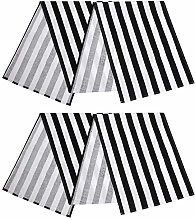 Aneco 2 Pack Striped Table Runner Cotton Striped