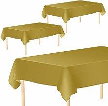 Aneco 3 Pack Rectangular Tablecloths Table Cloths