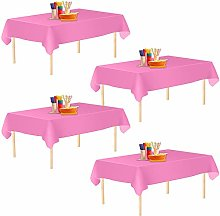 Aneco 4 Pack Tablecloths Rectangle Table Cloths