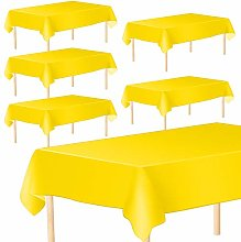 Aneco 6 Pack Disposable Tablecloths 54 x 108 Inch