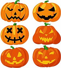 Aneco 6 Pack Halloween Pumpkin Placemats Place