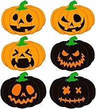 Aneco 6 Pieces Halloween Pumpkin Placemats