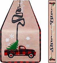Aneco Christmas Table Runner Christmas Vintage