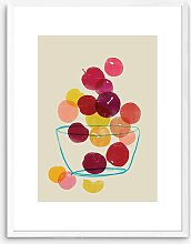 Anek - Plums Wood Framed Print, 83.4 x 63.4cm,