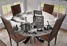 Angel Bags Industrial Decor Round Tablecloth,Old