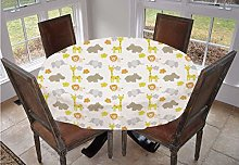 Angel Bags Nursery Round Tablecloth,Baby Jungle