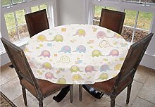Angel Bags Nursery Round Tablecloth,Cute Baby