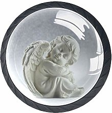 Angel White Crystal Drawer Handles Furniture Glass