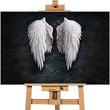 Angel Wing Banksy 20x30 inches | Canvas Art Cheap