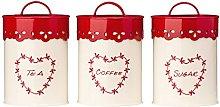 Anglaise Jars Tea Coffee And Sugar Canister Set