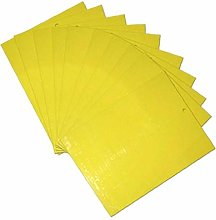 Angoter 10 Piece Double-sided Yellow Sticky Trap