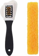 Angoter Useful Suede Shoe Brush 3 Side Cleaning