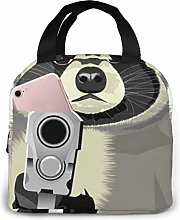 Angry Raccoon Gun Text Just Try The Arts Portable
