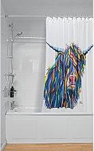 Angus McCoo Art by Steven Brown Shower Curtain