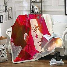 ANHHWW Lamb plush blanket W100 x H140 cm Anime,