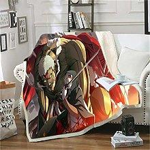 ANHHWW Lamb plush blanket W150 x H180 cm Anime,