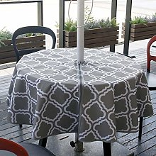 aniceday Tablecloth With Parasol Hole Waterproof