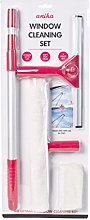 Anika 1.3m Telescopic Window Cleaning Kit, Red