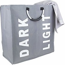 Anika 62219 Collapsible 2 Section Laundry Basket