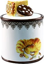 Anilar Cookie Jar, Porcelain, White, 12.5 x
