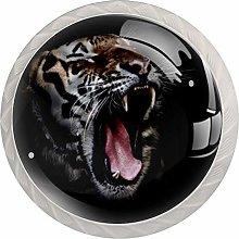 Animal Big Cat Tiger Kitchen Cabinet Pulls Drawer