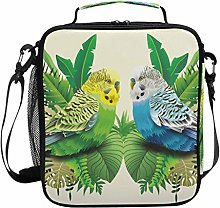 Animal Budgie Bird Leaves Lunch Bag Insulated