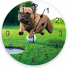 Animal Bulldog Silent Non Ticking Wall Clock,