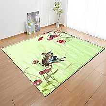 Animal Butterfly Printing 3D Green Carpet,