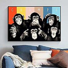 Animal Canvas Art Oil Painting Art Funny